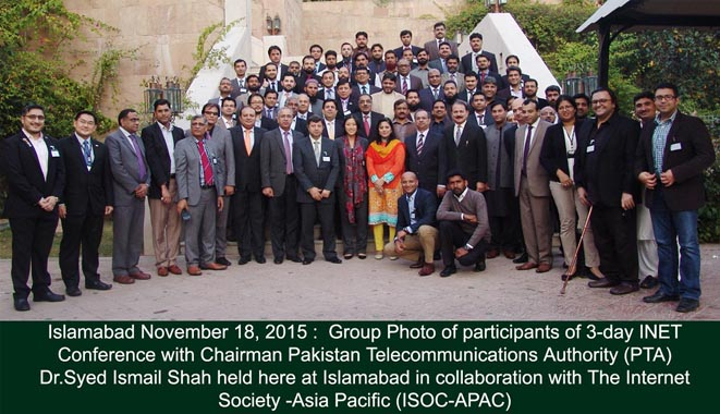 group photo of participants of 3 day INET conference